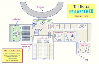 Map of the Bellweather Hotel