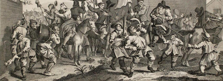 Hogarth, Hudibras Encounters the Skimmington
